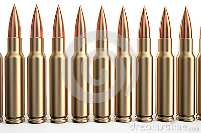 Bullets in a row