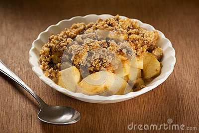 Apple Crisp or Apple Crumble in a Bowl