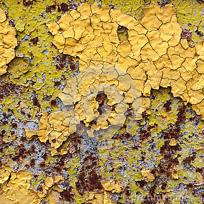 Abstract corroded colorful wallpaper grunge background iron rusty artistic wall peeling paint