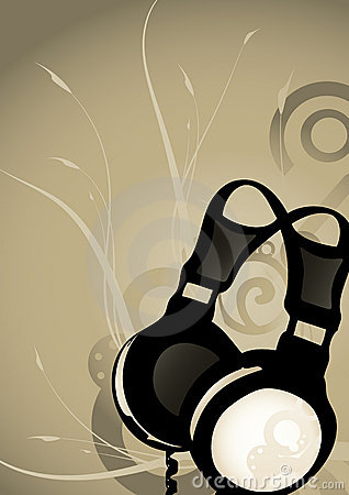 Abstract headphones background