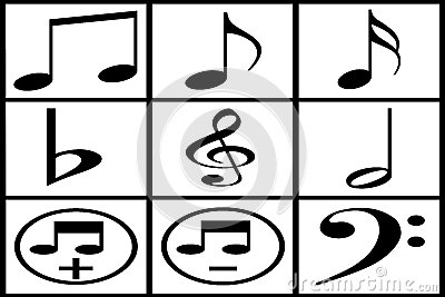 Collection of black musical note