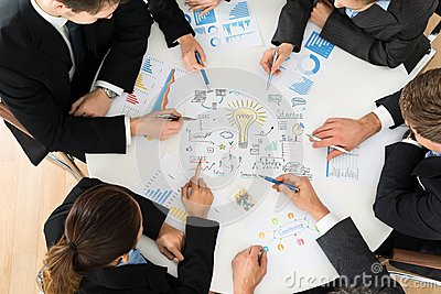 Group of businesspeople planning for startup