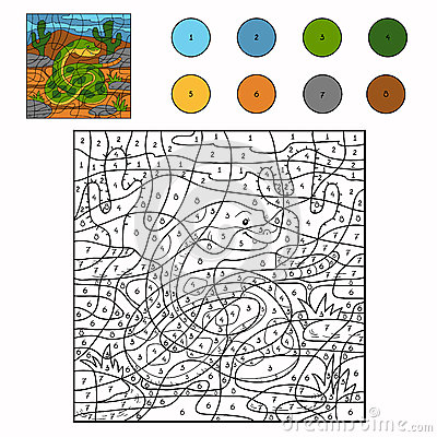 Color by number (snake)