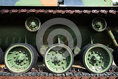 Military Army Tank Treads Background