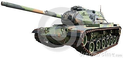 Military Army War Tank Isolated