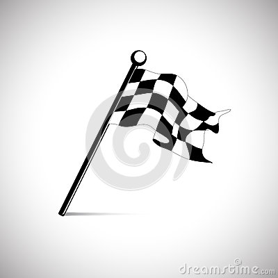 Flag for the start finish line racing