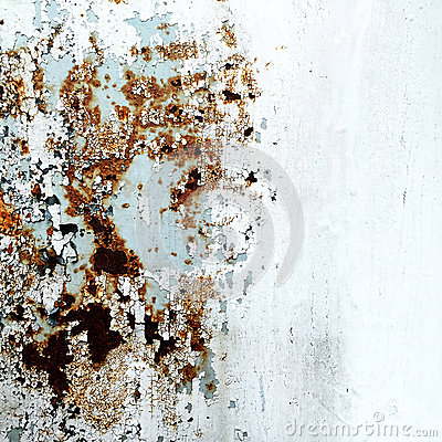 Abstract corroded colorful wallpaper grunge background iron rusty artistic wall peeling paint.