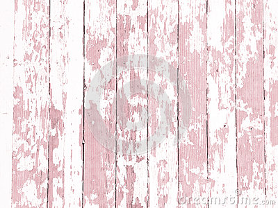 Shabby wood-grain texture white washed with distressed peeling paint