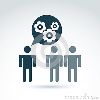 Gears and cogs working team system theme icon, dialog and messag