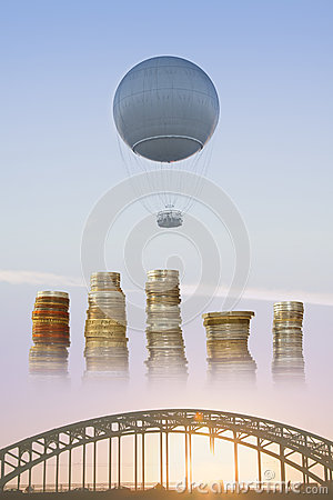 Gas Balloon, Stakes of Coins and Bridge
