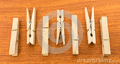 Different Layout of Clothespins with Up and Down Pattern