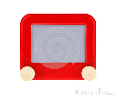Etch A Message on a Red Sketch Board