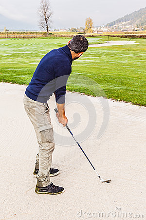 In the sand trap