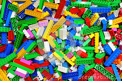 Heap Messy Toy Multicolor Lego Building Bricks