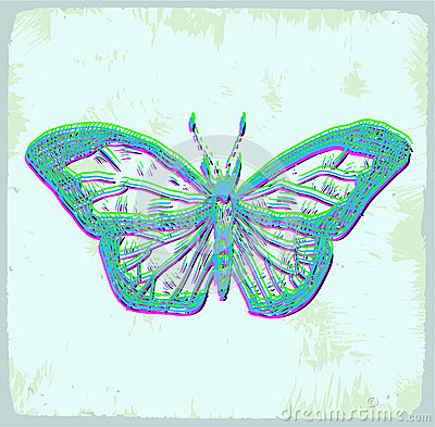 Cartoon butterfly illustration, vector icon