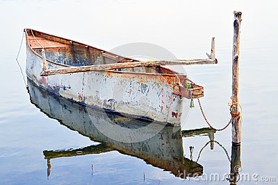 Rowboat and reflection