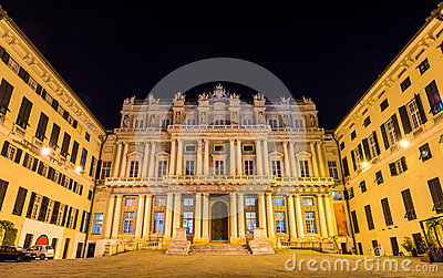 View of Palazzo Ducale in Genoa