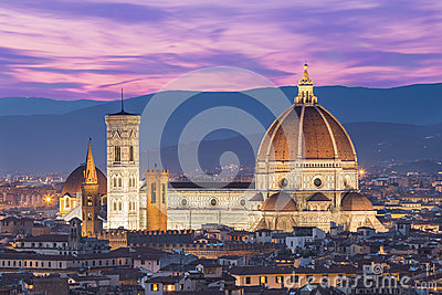 Close up view of Duomo in Florence, Italy