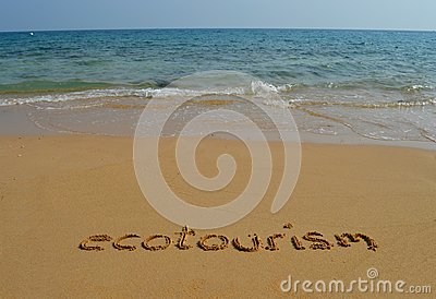Text ecotourism in the sand