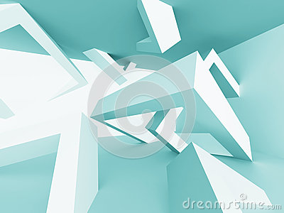 Modern Futuristic Abstract Architecture Background