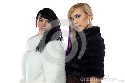Photo of women in fake fur coats