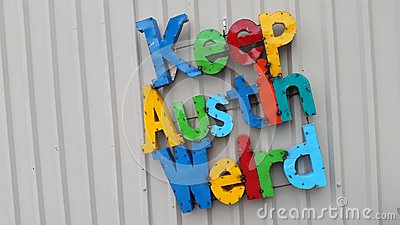 Keep Austin Weird Colorful Letters Central Texas Slogan
