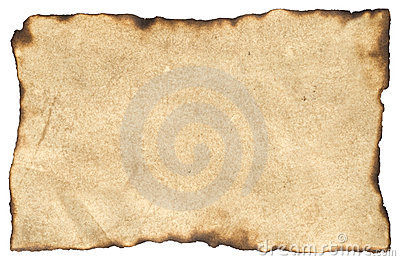Aged Blank Parchment Paper