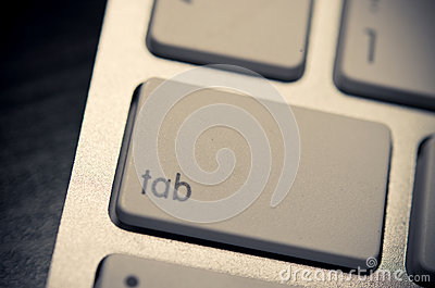 Tab on the keyboard