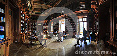 Old bibliotheque of Romanian University.