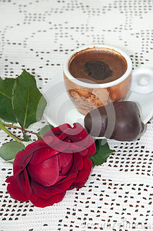 RED ROSE COFFEE CHOCOLATE COOKIE