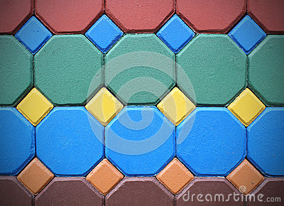 Hexagonal brick flooring background texture