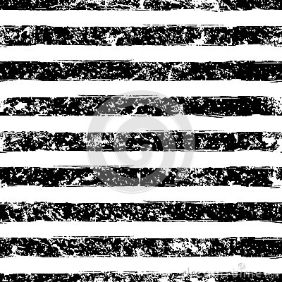 Abstract vector watercolor stripe grunge seamless pattern. Black