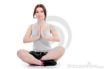 Portrait of a girl practicing yoga
