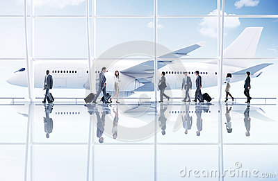Airport Travel Business Trip Transportation Airplane Concept