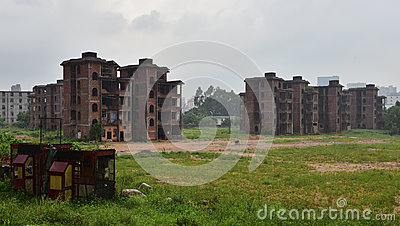 The abandoned buildings
