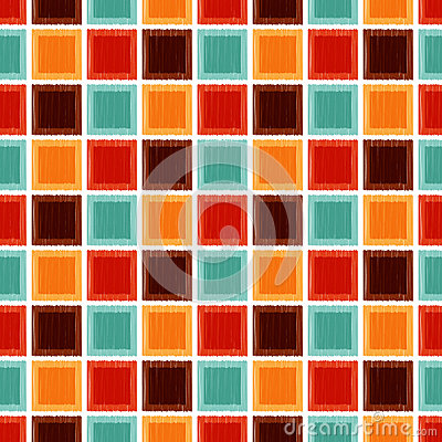 Seamless geometric square tile background