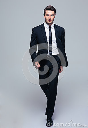 Full length portrait of a fashion male model