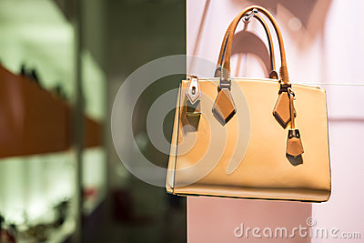 Luxury handbag in store