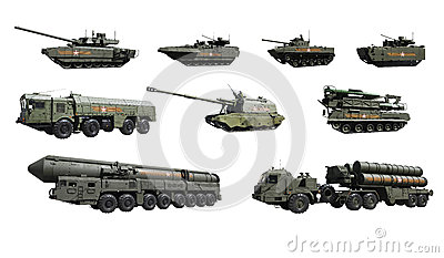 Russian military equipment participating in the parade on Red square in Moscow to commemorate the Victory in the great Patriotic