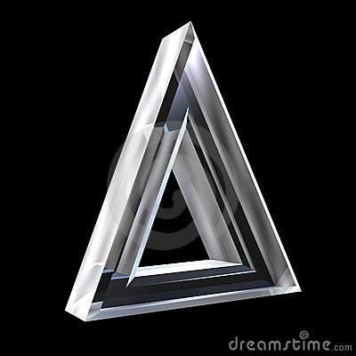3D Delta symbol in glass