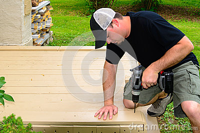 Carpenter Bulding Deck with Drill