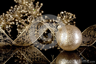 Glitter Gold Christmas Ornament