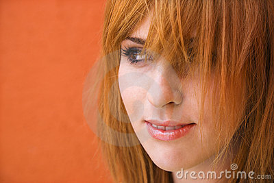 Woman with mischievious expression