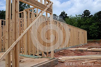 Wood New Home Framing