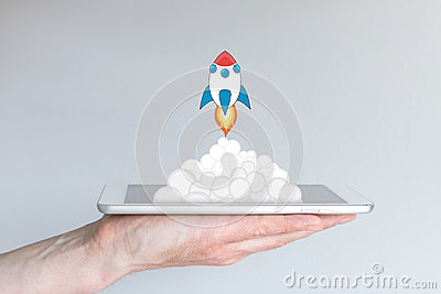 Concept of successful mobile computing business or strategy, e.g. for app development or business startups.