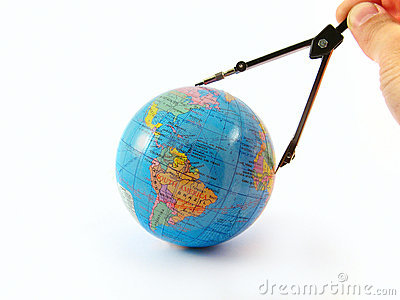 Globe distance measure orientate navigate