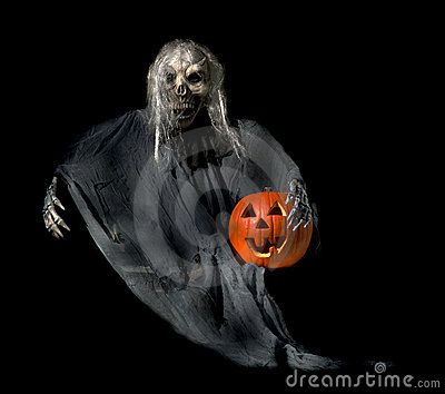 Halloween Ghoul with Jackolantern