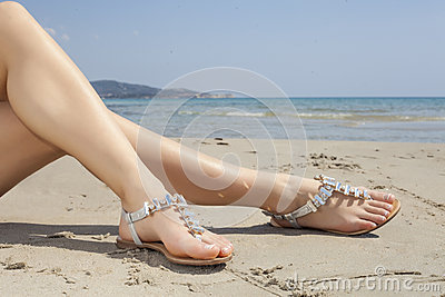 Young women sandals
