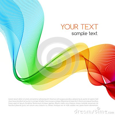 Abstract colorful background. Spectrum wave