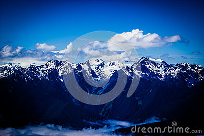 Hurricane Ridge mountain range landscape in Olympic National Park